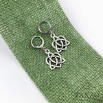 Celtic Sister Knot Lever Back Earrings.