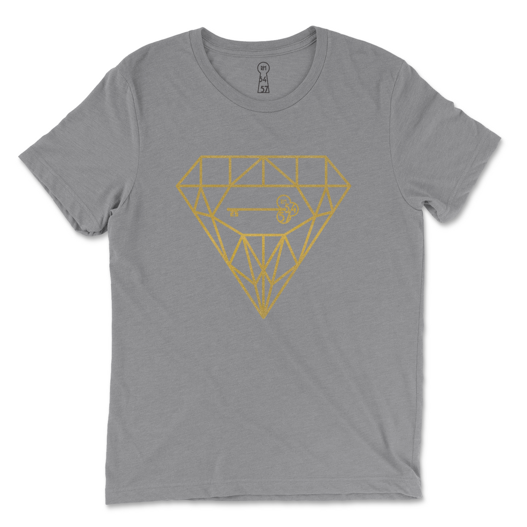"""Key & Prism"" Unisex Heather Grey Tee"