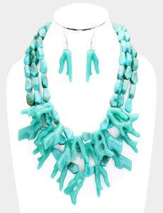 Crushing Coral - Turquoise