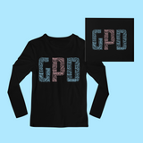 Gamma Phi Delta in Words Long Sleeve Shirt - Black (GPD)