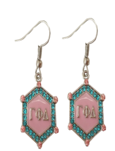Gamma Phi Delta Bling Earrings