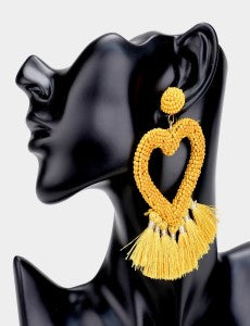 Heart Me Earrings - Yellow