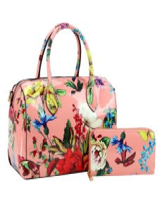 Flowers For Me - Pink Handbag