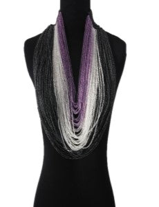 Bead Sensation - Purple, White & Black