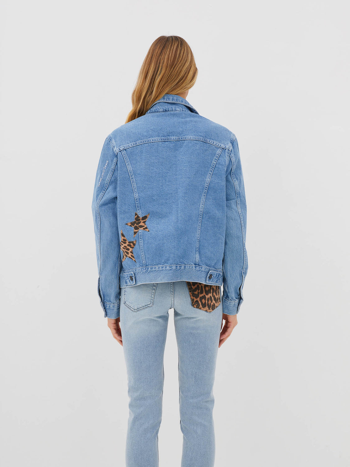 Cheetah Denim Stars