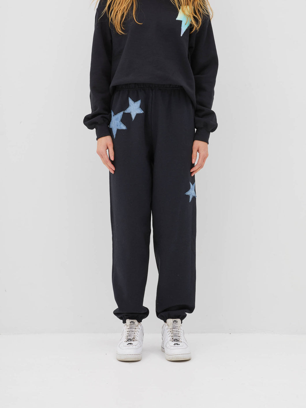 Star Denim Sweatpants