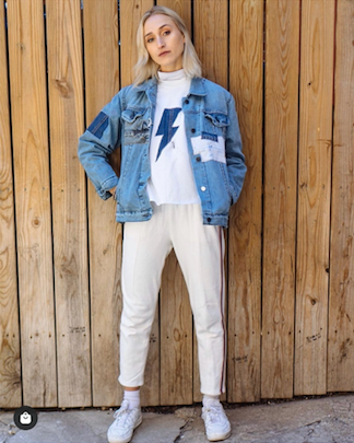 Denim Lightning Bolt