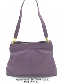 Purple Genuine Leather Hobo bag - R&M BOUTIQUE