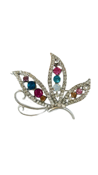 Pin Brooch Gold Rhinestone Crystal - R&M BOUTIQUE