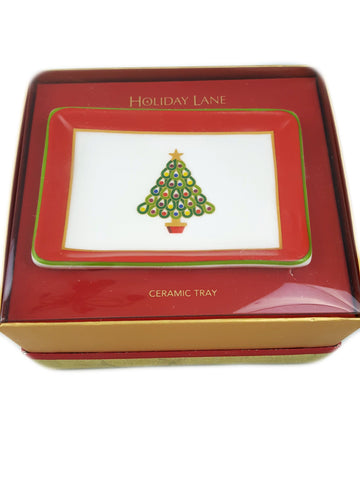 Charter Club Christmas Tree Small Ceramic Tray - R&M BOUTIQUE