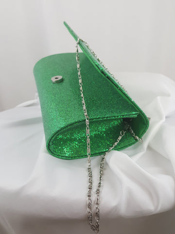 Green Evening Clutch Bag - R&M BOUTIQUE