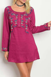 Embroider Detail Loose Fit Dress - R&M BOUTIQUE