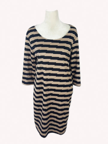 Joseph Q Striped Party Dress Plus size - R&M BOUTIQUE