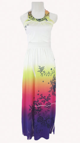 UpStyle Halter Neck High waisted Maxi Dress - R&M BOUTIQUE