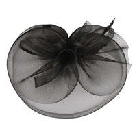 RUFFLE MESH W/FEATHER HEADBAND - R&M BOUTIQUE
