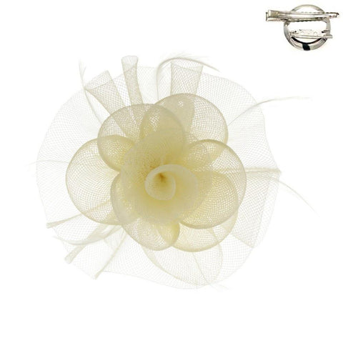 MESH FLOWER HAIR/PIN - R&M BOUTIQUE