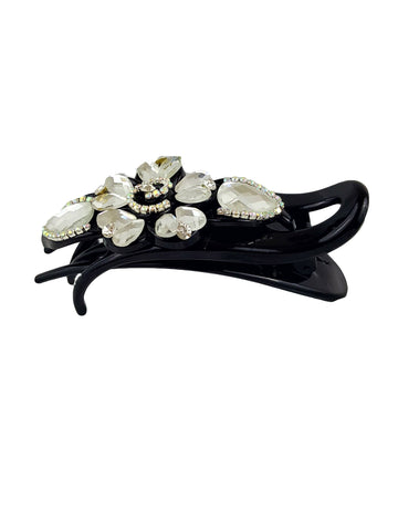 Crystal Rhinestone Side Slider Clip Hairpin Side Barrette Hair Clip - R&M BOUTIQUE