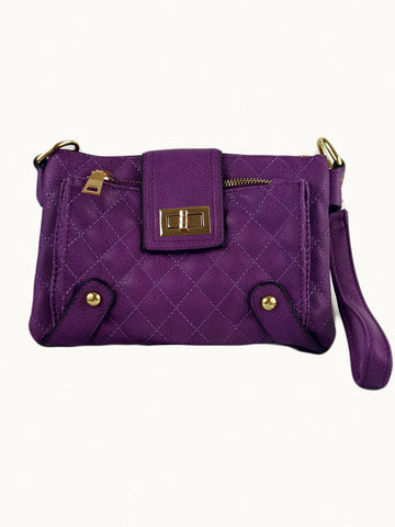 Soft Vegan Leather Purple Cross Body Handbag - R&M BOUTIQUE