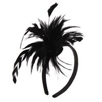 FEATHER PUFF HEADBAND - R&M BOUTIQUE