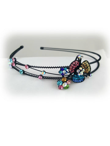 Elegant Clover Flower Multi Color Stone Headband - R&M BOUTIQUE