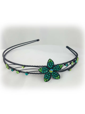 Elegant Flower Green Stone Headband - R&M BOUTIQUE