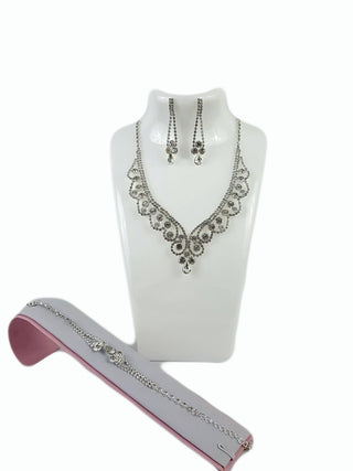 Costume Jewelry Clear Rhinestone Set - R&M BOUTIQUE