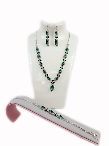 Green Rhinestone Set - R&M BOUTIQUE