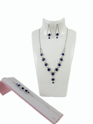 Costume Jewelry Blue Rhinestone Set - R&M BOUTIQUE