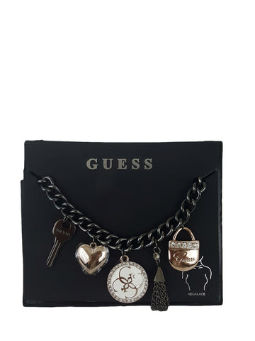 GUESS Necklace Crystal and Enamel Charm - R&M BOUTIQUE