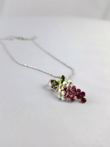 Sparkling Grapes Charm Necklace - R&M BOUTIQUE