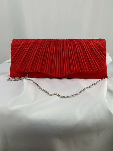 Red Evening Clutch Bag Bridal Handbag Prom Purse - R&M BOUTIQUE