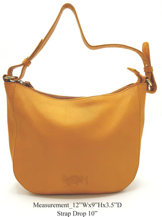 Genuine Leather Hobo Handbag - R&M BOUTIQUE