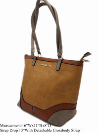 Apricot Vegan Leather Tote - R&M BOUTIQUE