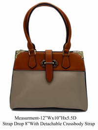 Manmade Leather Shoulder bag - R&M BOUTIQUE