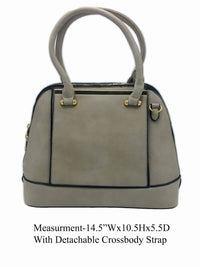 Gray Shoulder Bag With Crossbody Strap - R&M BOUTIQUE