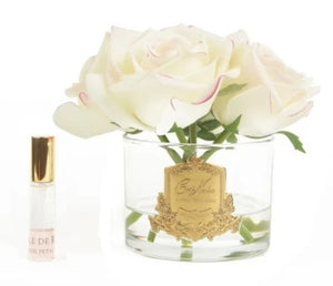 PERFUMED NATURAL TOUCH 5 ROSES - CLEAR - PINK BLUSH - PINK BOX - GMR88