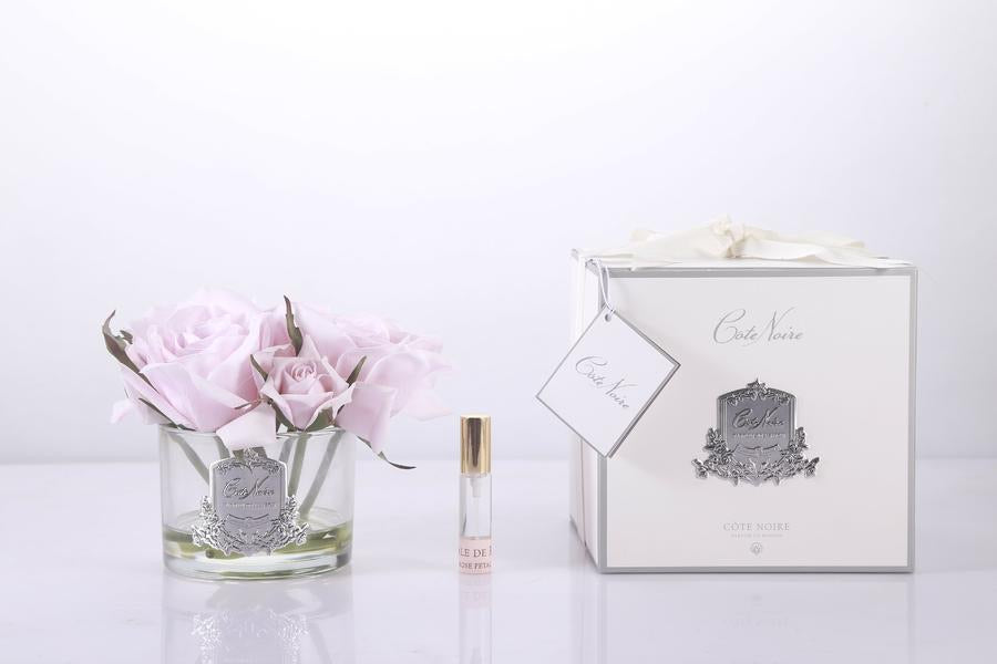 PERFUMED NATURAL TOUCH 5 ROSES - CLEAR - FRENCH PINK - GMR66