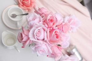 HERRINGBONE FLOWER - MIXED ROSE BUDS - CLEAR - HCF09