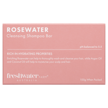Load image into Gallery viewer, Rosewater Cleansing Shampoo Bar 100g