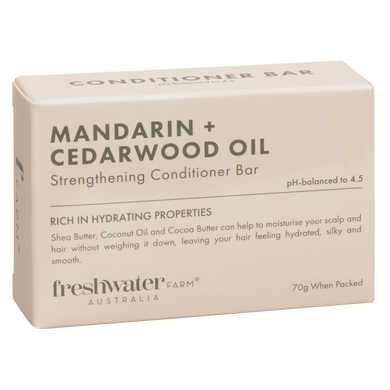 Mandarin & Cedarwood Oil Strengthening Conditioner Bar 70g