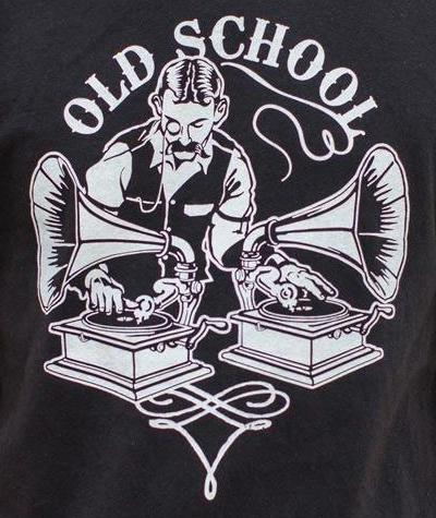 Old School DJ - Phonograph T-Shirt (Mens)