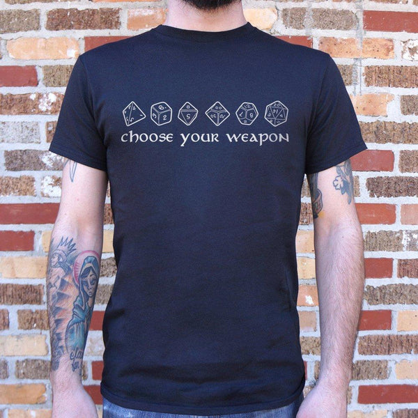 Choose Your Weapon - RPG Dice T-Shirt (Mens)