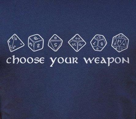 Choose Your Weapon - RPG Dice T-Shirt (Womens)