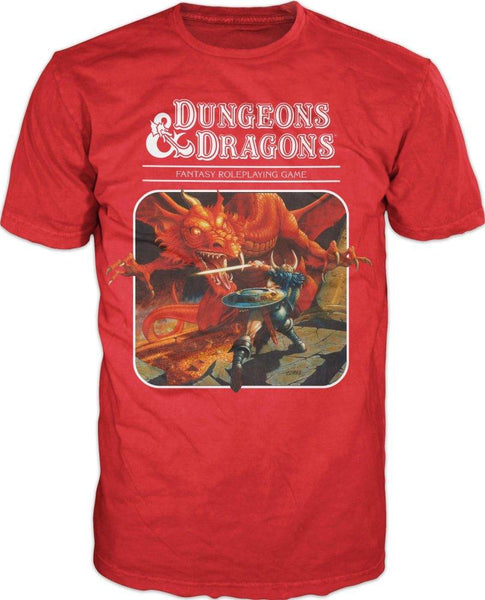 Face Off With The Dragon - 3rd Edition D&D Artwork - D&D T-Shirt