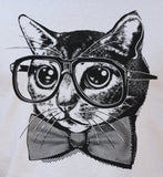 Nerd Cat T-Shirt (Womens)