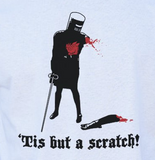 Tis But A Scratch! The Black Knight - Monty Python and the Holy Grail T-Shirt