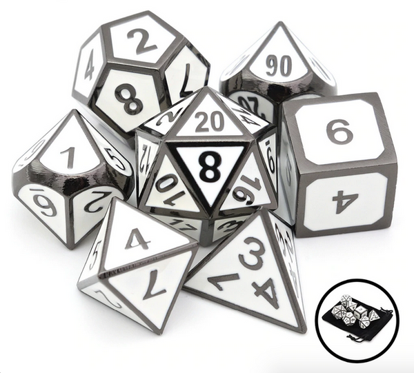 RPG Gaming Dice Sets - Role Playing Game Polyhedral Metal Dice