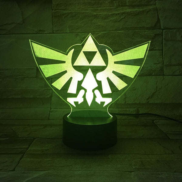 Hyrule Triforce Symbol - Legend of Zelda 7-Color LED Desk Lamp