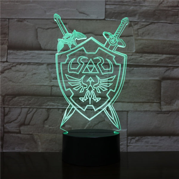 Hylian Coat of Arms - Legend of Zelda 7-Color LED Desk Lamp
