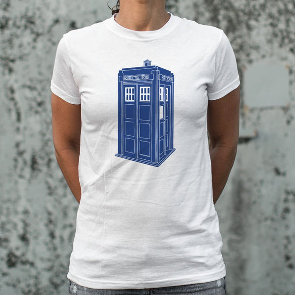 Doctor Who Tardis T-shirt Womens